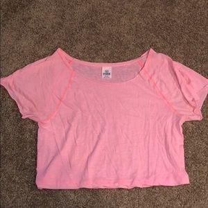 VS PINK pink crop top